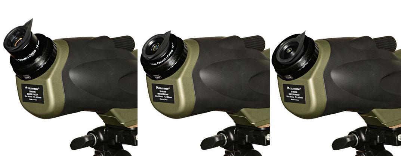 Das Ultima 80 mit den 18, 10 und 6mm Classic Orthos. Um das 6mm Okular wirklich bequem nutzen zu können, sollte der M35-Adapter etwas flacher sein, aber es funktioniert!