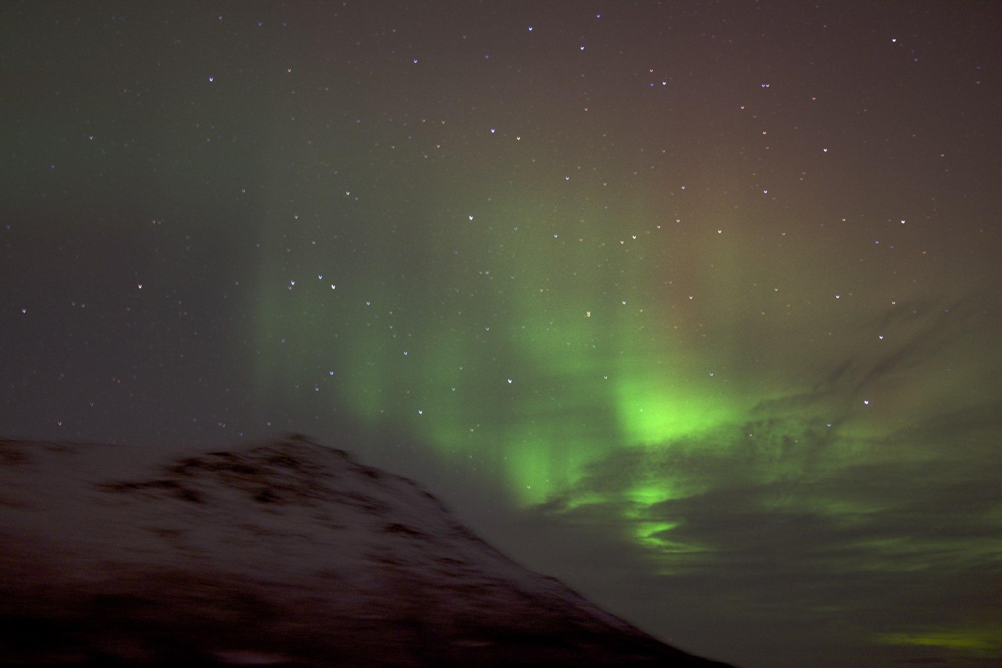 Polarlicht mit 30mm f/1,4