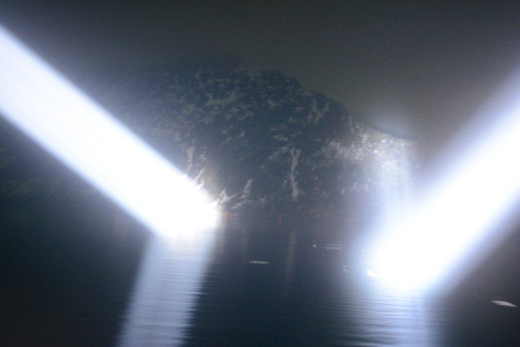 Das war nicht der Trollfjord, der hier beleuchtet wurde.