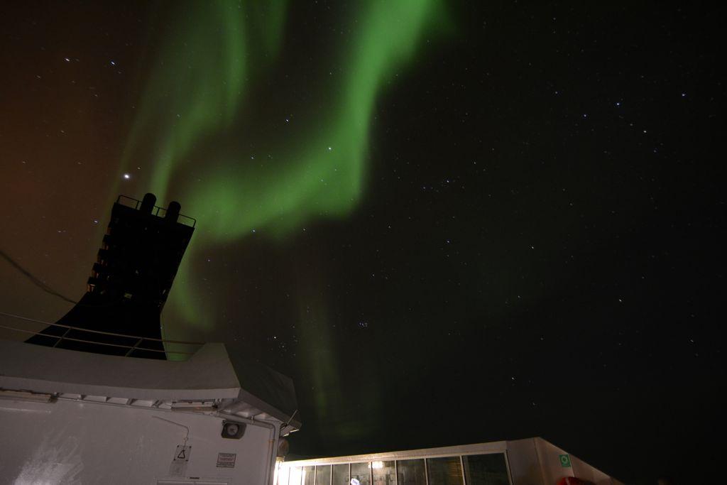 Ach da kommt das Polarlicht her...