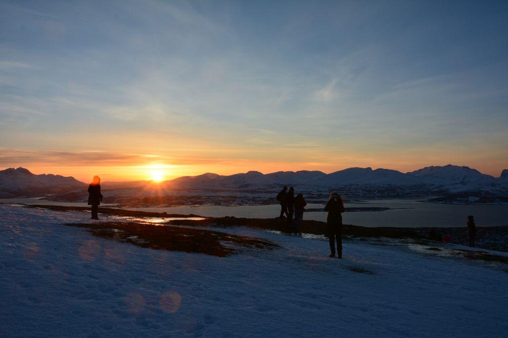 Sonnenuntergang über Tromsø.