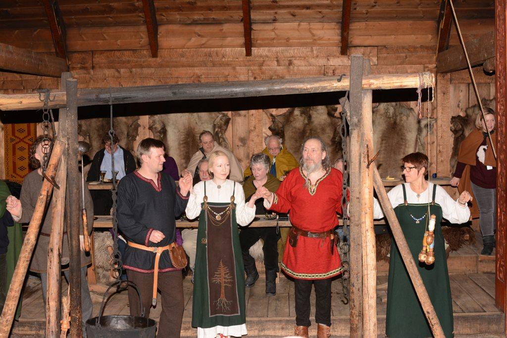 Auf dem Lofotr Wikingerfest.