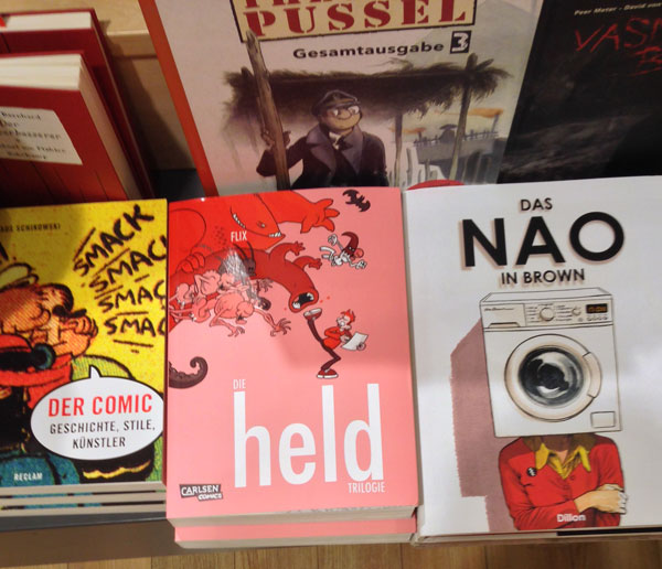 Gibt's auch im echten Buchhandel: Die Held-Trilogie.