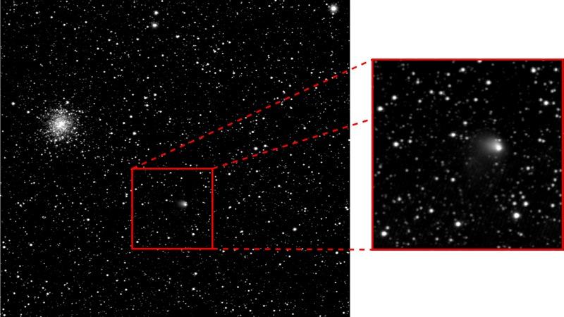 Komet 67P/Tschurjumow-Gerassimenko, fotografiert von der OSIRIS-Kamera der Rosetta-Sonde am 30. April 2014.  Bild: ESA/Rosetta/MPS for OSIRIS Team MPS/UPD/LAM/IAA/SSO/INTA/UPM/DASP/IDA)