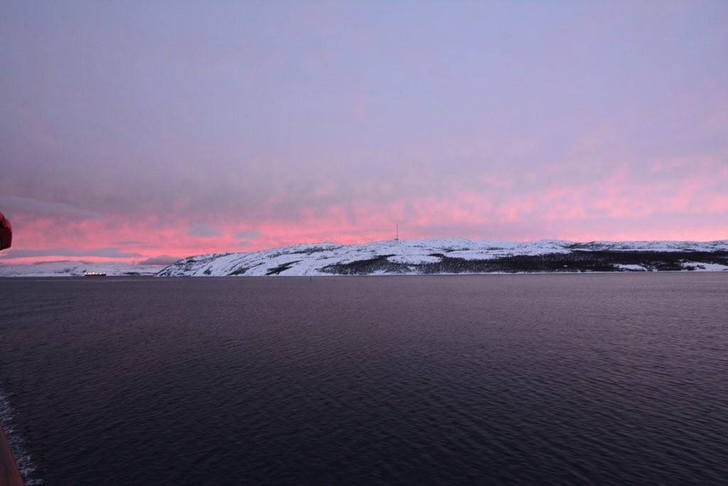 Sonnenaufgang vor Kirkenes