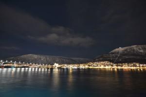 Kurz vor Mitternacht war noch alles ruhig in Tromsø