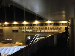Adieu, BErgen: Ein letzter Blick auf's Hurtigruten-Terminalen.
