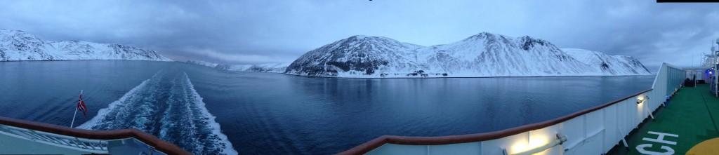Malerisch: Die Passage südlich der Insel Magerøya.