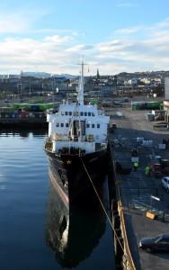 Frisch aus der Werft: Die MS Lofoten in Trondheim.