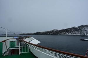 Trüber Himmel über Torvik