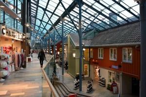 Im Torgcenter Trondheim.