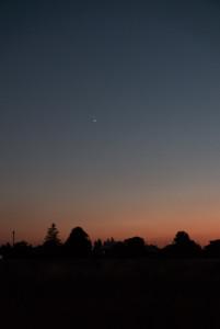 Die helle Venus und Jupiter am Abendhimmel