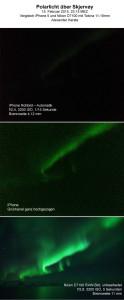 Polarlichtfotografie mit iPhone und DSLR