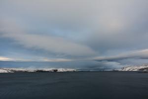 Blick aus dem Hafen.