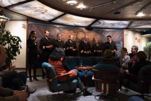 Die Offiziere beim Farewell-Drink