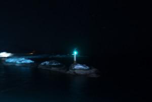 Die Hafeneinfahrt von Svolvær