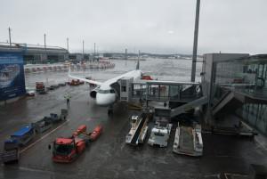 Frisch gelandet Flughafen Oslo