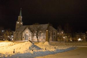 Domkirke bei Nacht
