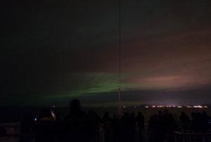 Nordlicht und Wolken