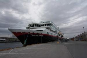 Trollfjord in Trondheim (ohne Midnatsol)