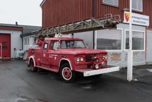Das Feuerwehrauto ist nicht mehr im Dienst.