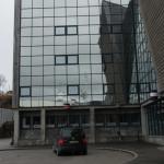Spiegelung im Hurtigruten-Haus