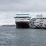 Blick aufs Schiff in Brønnøysund