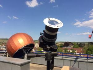 Kamera mit Sonnenfilter