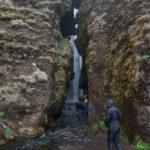 Der Zugang zum Gljúfurárfoss