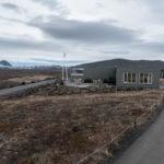 Besucherzentrum mit Hverfjall im Hintergrund