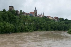 Hochwasser bei Bad Wimpfen