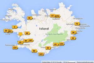 Island im Mai 2016 – die Reiseroute anhand der GPS-Daten der Bilder