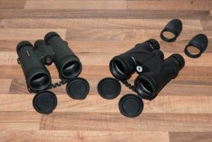 Ein normales 8x42 TrailSeeker-Fernglas und das 8x42 Space Walker 3D