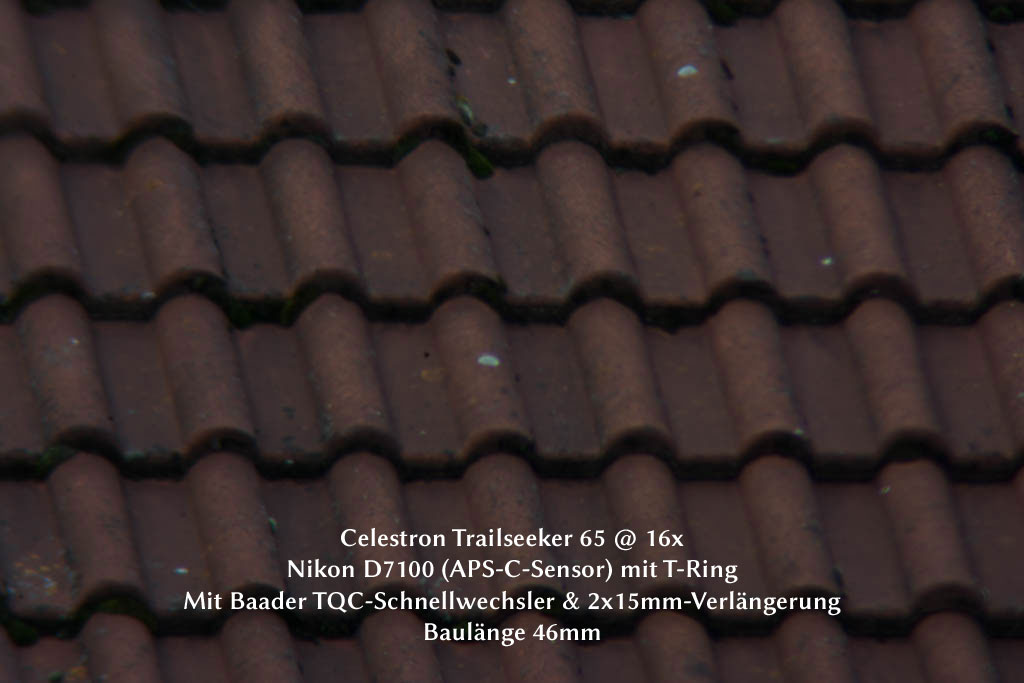 46 mm Abstand mit Schnellwechsler und zwei 15mm-Hülsen