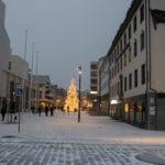 Schnee in Bodø